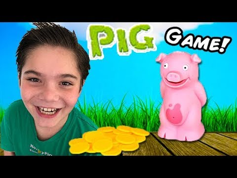 STINKY PIG GAME! Family Fun + Toy Playtime Song. Kids Reviews by HobbyFamily HobbyKidsTV