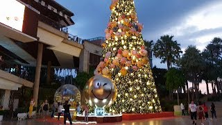 pattaya beach road and decoration chrismas central festival