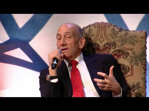 A Conversation with former Israeli Prime Minister Ehud Olmert