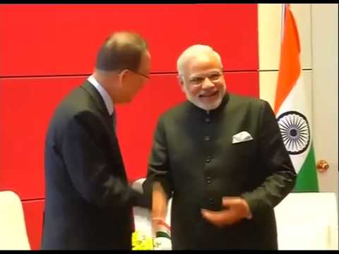 PM Modi meets UN Secretary General Ban Ki Moon