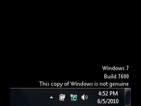 Copy of Windows is not genuine on Windows 7, 100% working  YouTube