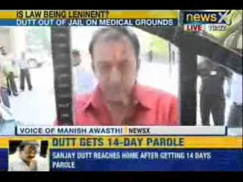 Breaking News : Actor Sanjay Dutt granted 14 day parole for treatment of his leg