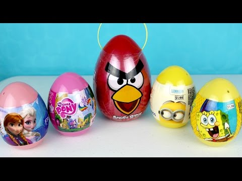 Disney Frozen My Little Pony Spongebob  Angrybirds Despicable Me Easter Eggs| Viernes De Sorpresas video