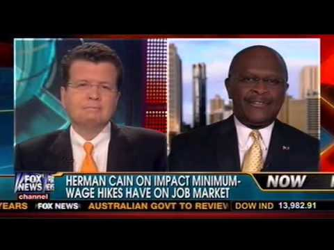 Herman Cain Calls Obama's Minimum Wage Increase 'Dead Wrong' On Fox