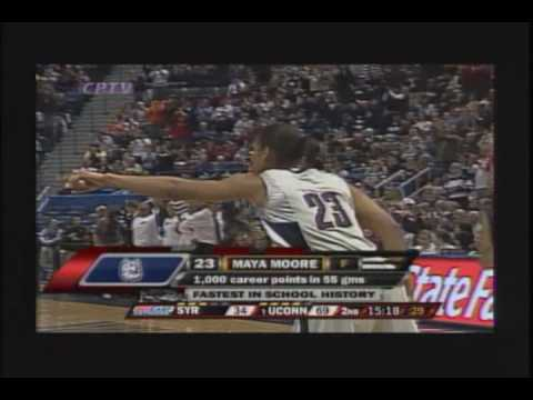 Maya Moore 40 Pts against Syracuse 1/17/09 Video