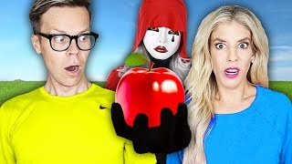 We Only Ate RED FOODS for 24 hours! (impossible Food Challenge with Hacker) Matt and Rebecca Zamolo