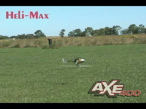 Extreme aerobatic flight of Helimax Axe 400 3D