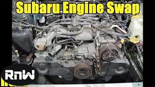 Easy Subaru Engine Removal - Engine Swap or Head Gasket Replacement Part I