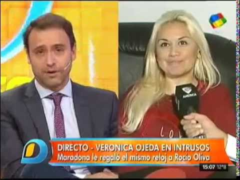 Diego Maradona le regaló a Rocío Oliva lo mismo que a Verónica Ojeda hace dos años