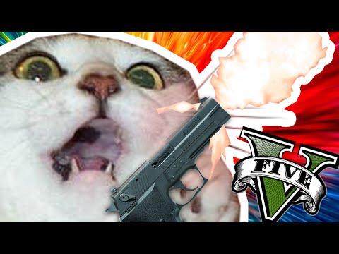 el gato PUTO AMO   MOMENTOS RANDOM EN GTA 5 PC #1