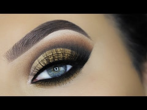 Golden Smokey Cut Crease Tutorial
