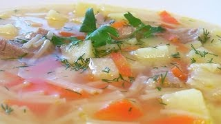 Суп картофельный с вермишелью видео рецепт. Книга о вкусной и здоровой пище
