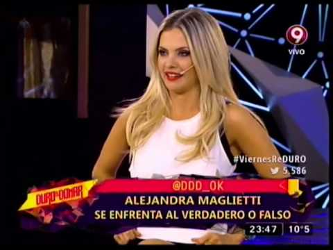 VERDADERO O FALSO - ALEJANDRA MAGLIETTI - SU PRIMERA CITA CON JONAS - 09-10-15