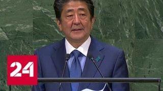 Абэ: мирный договор с Россией поможет процветанию Азии - Россия 24