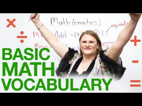 Basic MATH vocabulary in English