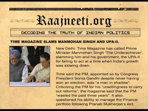 TIME MAGAZINE SLAMS MANMOHAN SINGH AND UPA-II.