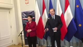 Polish Prime Minister Beata Szydlo  in the Netherlands
