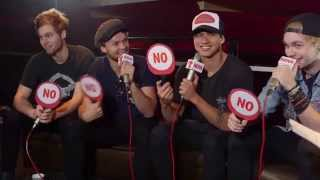 5SOS play Yes/No Game backstage at Nova