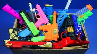 Box Full Of Toys! GUNS BOX Toys Military & Police equipment - My Massive Gun Toys Arsenal Video