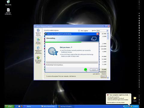 How to manually uninstall AVG 9.0