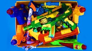 Box Full of Toys!!! Military Fake Nerf Toy Guns Toys For Kids and Realistic Police Toys Equipment