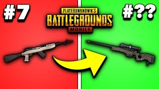 EVERY GUN IN PUBG MOBILE RANKED FROM WORST TO BEST 2019! (Snipers)