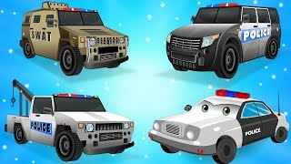 Police Vehicles | Police Car Wash Videos | Nursery Rhymes Plus Lots more for Kids - My Little TV