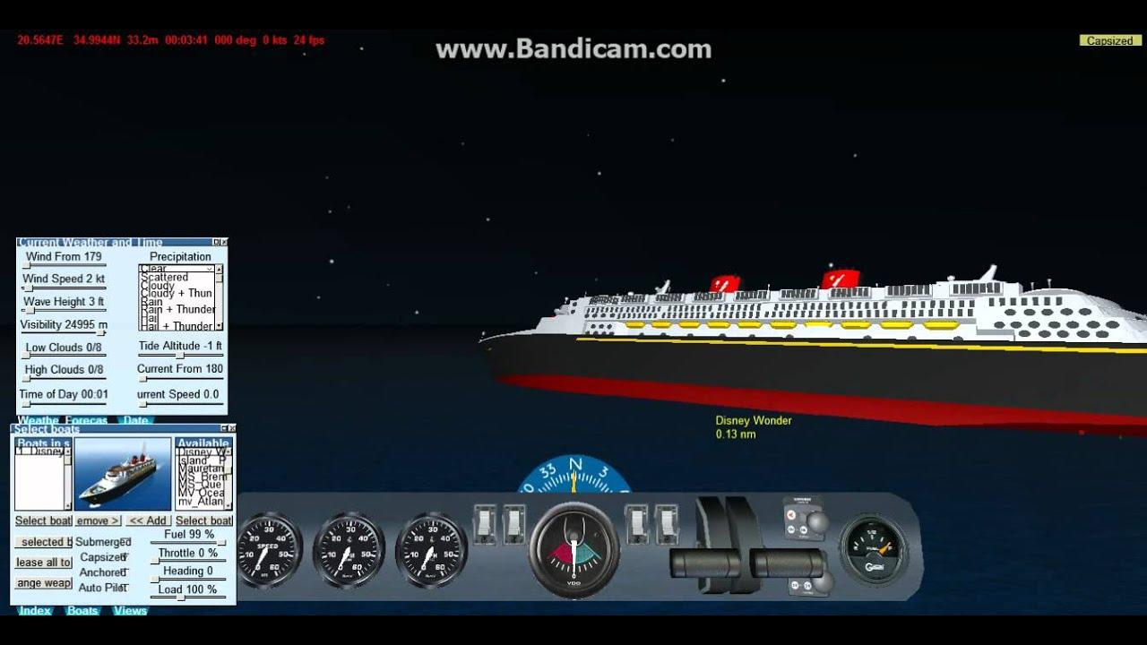 Virtual Sailor Disney Wonder Sinking Youtube
