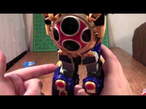 Power Rangers Ninja Storm Power Megazord Review (Ninpuu Sentai Hurricaneger Senpuujin toy)