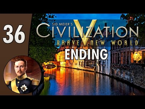 Civilization V Daily #3: Belgium - Part 36 (Ending)