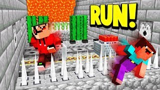 IMPOSSIBLE DEATH RUN CHALLENGE! (Minecraft Escape Death)
