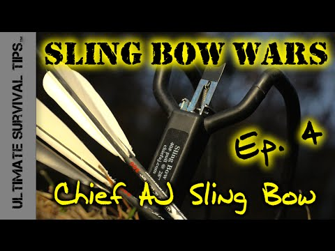 Chief AJ's HFX Slingshot - REVIEW - Ep. 4 - Grizzly Bear Killing Survival / Hunting Sling Bow