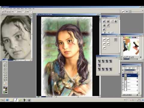 Как сделать фото чтобы оно было нарисовано красками