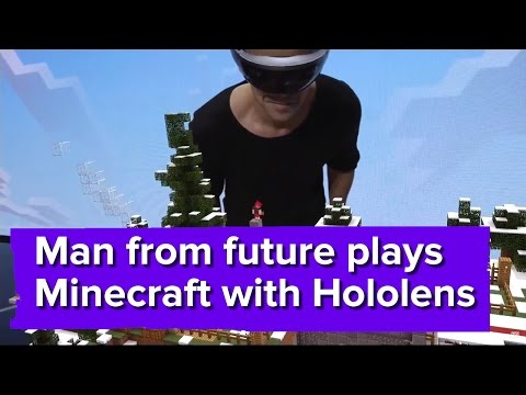 Playing Minecraft with the Microsoft HoloLens - E3 2015 Demo