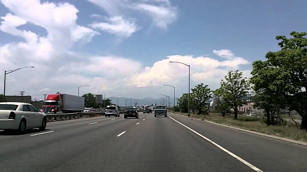 Driving Around Denver Colorado I 70 25 Downtown YouTube