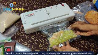 multipurpose vacuum sealer - vacuum packing machine- increase shelf life of ur product