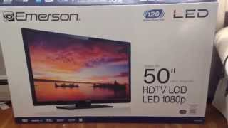 "Emerson HDTV 50"" LED TV Customer Review-Walmart Purchase"
