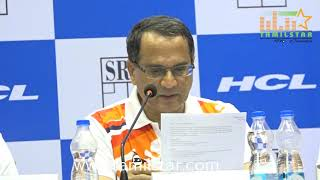 Press Conference on HCL & Squash Rackets Federation of India SRFI