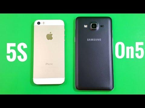 iPhone 5S vs Samsung Galaxy On5