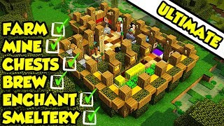 Minecraft ULTIMATE Survival House Base Tutorial 2 (How to Build)