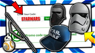 STAR WARS ROBLOX PROMO CODE| ALL WORKING PROMO CODES ON ROBLOX 2019 (ROBLOX)
