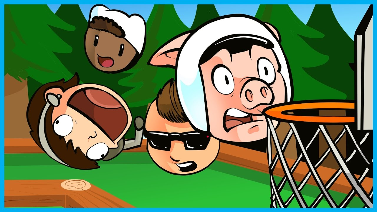 Golf With Friends Funny Moments Basketball Edition! - KOBE!! (Mini Golf Rage)
