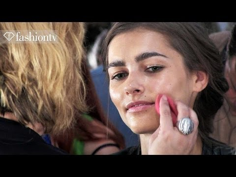 Tadashi Shoji Spring/Summer 2014 Hair and Make Up | New York Fashion Week | FashionTV