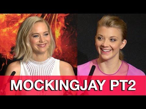 The HUNGER GAMES MOCKINGJAY Part 2 Cast Interviews - Jennifer Lawrence, Natalie Dormer
