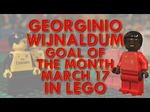 Georginio Wijnaldum - Goal of the Month in Lego - March 17