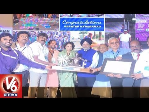 Hyderabad Tops Swachh Survekshan Awards In Solid Waste Management Category | V6 News