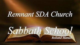 "Sabbath School Study: ""Life in the Early Church"""