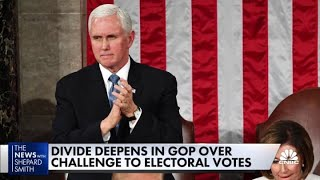 President Donald Trump pressures VP Mike Pence to reject electoral votes