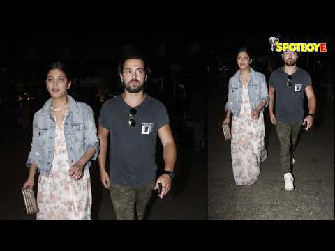 SPOTTED: Shruti Haasan with Boyfriend at the Airport | SpotboyE