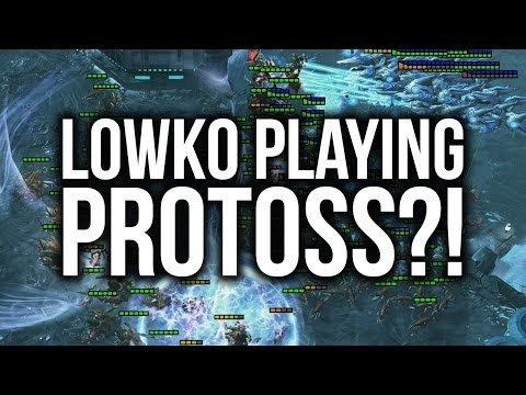 Lowko Playing... PROTOSS?! (StarCraft 2: Heart of the Swarm)